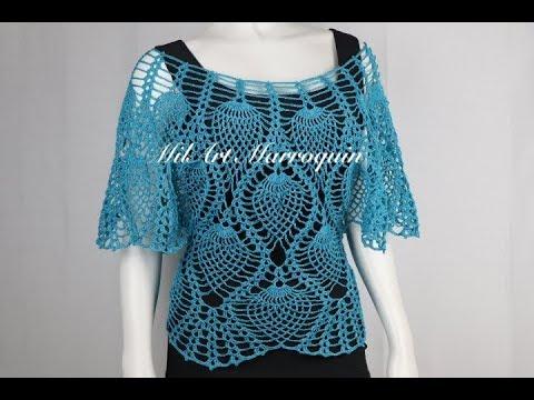 Blusa Crochet Fácil Paso A Paso Youtube