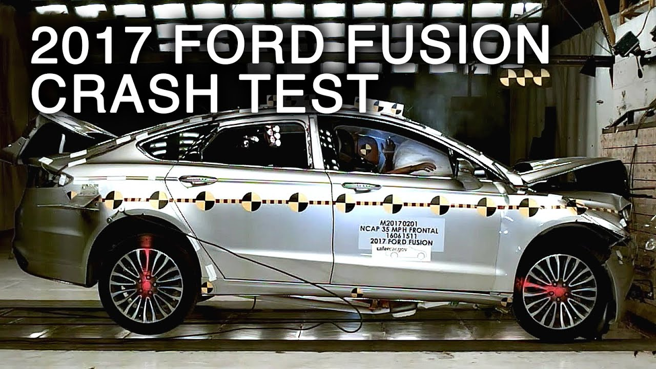 2017 ford fusion frontal crash test youtube. Black Bedroom Furniture Sets. Home Design Ideas