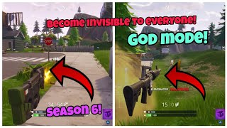 Become Invisible using this God Mode Glitch (New) Fortnite Glitches Season 6 PS4/Xbox one 2018