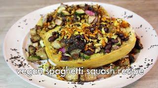 Vegan Spaghetti Squash With Roasted Veggies