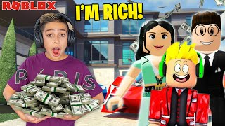 Ferran got ADOPTED by a Billionaire in Roblox Brookhaven! | Royalty Gaming screenshot 4