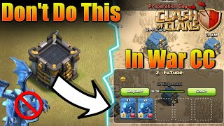 DON'T DONATE ELECTRO DRAGON IN CLAN WAR CC😱 HOW TROLL IN WAR AND WIN THE CLAN WAR! CLASH OF CLANS