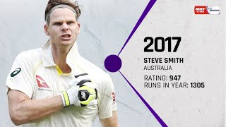 The top ten: Batsmen ranked No.1 in Tests through the decade