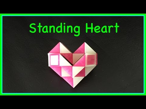 Smiggle Snake Puzzle Or Rubik's Twist Tutorial: How To Make A Standing Heart Shape Step By Step