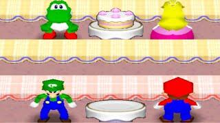 Mario Party 2 - (Minigames) - Yoshi vs Peach vs Mario vs Luigi