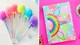 9 COOL DIY UNICORN SCHOOL SUPPLIES for Back to School,YOU CAN MAKE IN 5 MINUTES