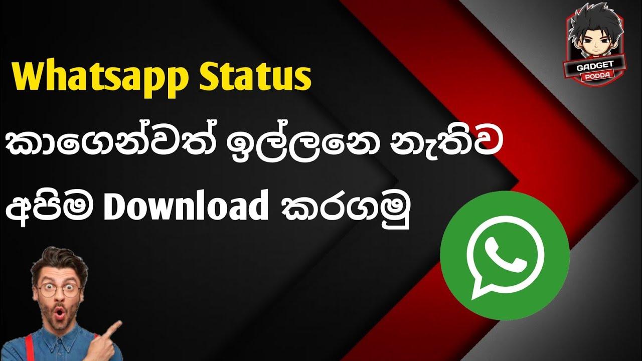 How to Download Whatsapp Status sinhala - YouTube