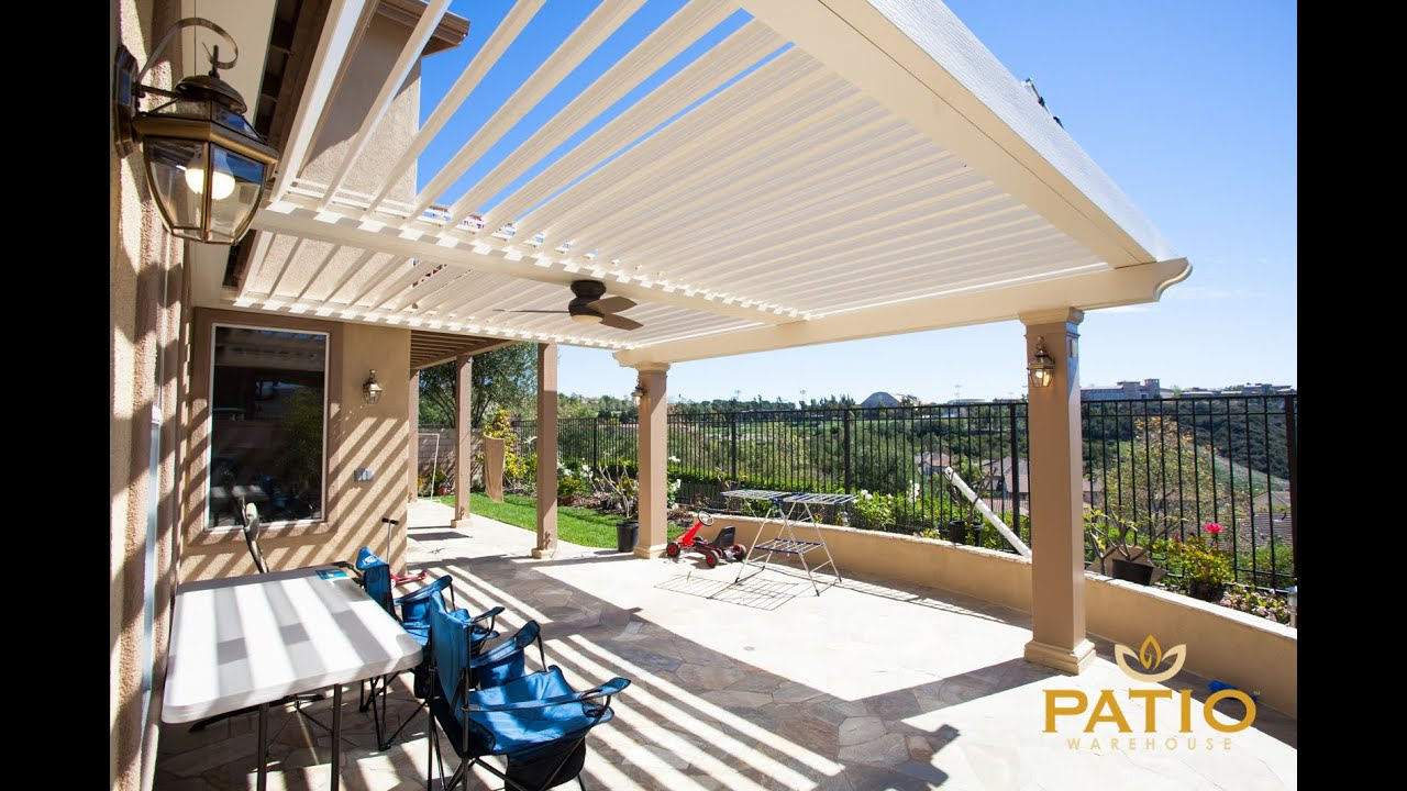 Apollo Opening Louvered Patio Cover Warehouse Inc Orange