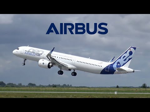 Airbus A321NEO Test Flights in Strong Winds   Takeoffs, Landings, Touch-and-Gos