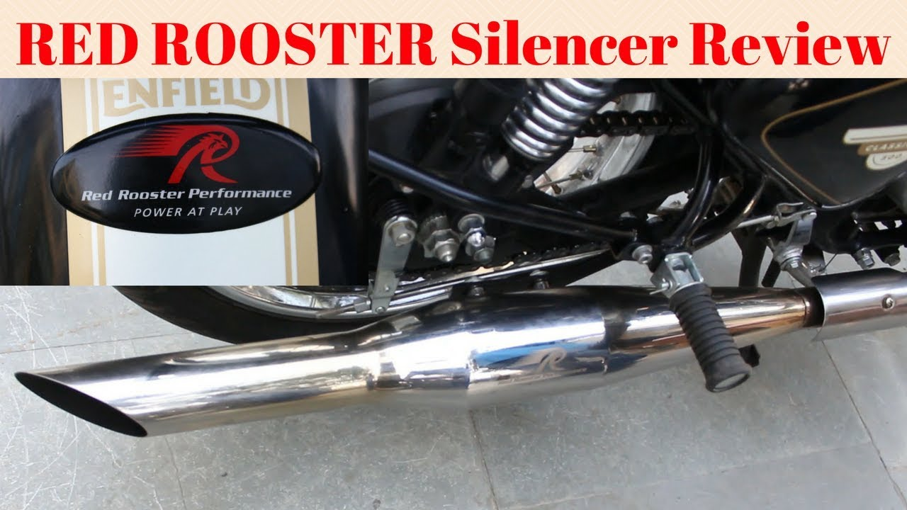 Red Rooster Silencer For Royal Enfield Full Review Sound
