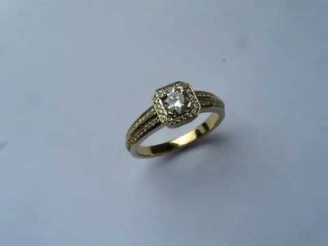 Pierścionek Zaręczynowy Z Diamentami Pracownia Jubilerska Zlota