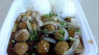 Teriyaki Meatballs @ Mililani Restaurant Oahu Hawaii
