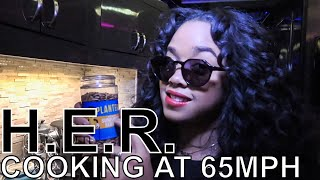 H.E.R. Makes Avocado Toast & Protein Smoothie - COOKING AT 65MPH Ep. 34