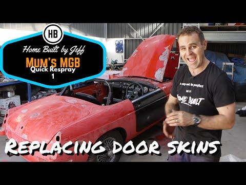 Replacing door skins - Mum's MGB Quick respray 1
