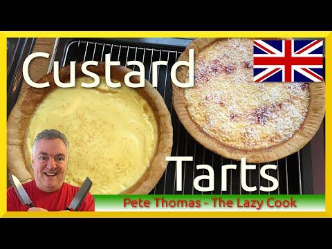 How To Bake British Custard Tart And Manchester Tart
