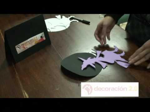 Manualidad halloween hacer una bruja de goma eva youtube - Como hacer una manualidad ...