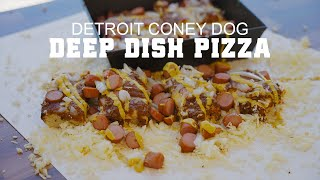 Coney Dog Deep Dish Pizza