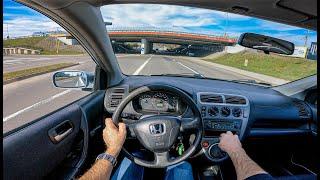 2003 Honda Civic VII | 1.4 16V 90 HP | POV Test Drive