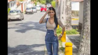 Denisse Gomez chilling out in street