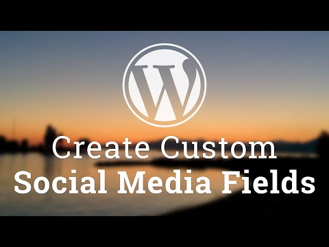 Part 5 - WordPress Theme Development - Custom Social Media Fields and Sanitize Callbacks