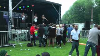 Music at Sheffield Pride 2012 - The Bon Bonz - 'Liar' and 'Sex on Fire'