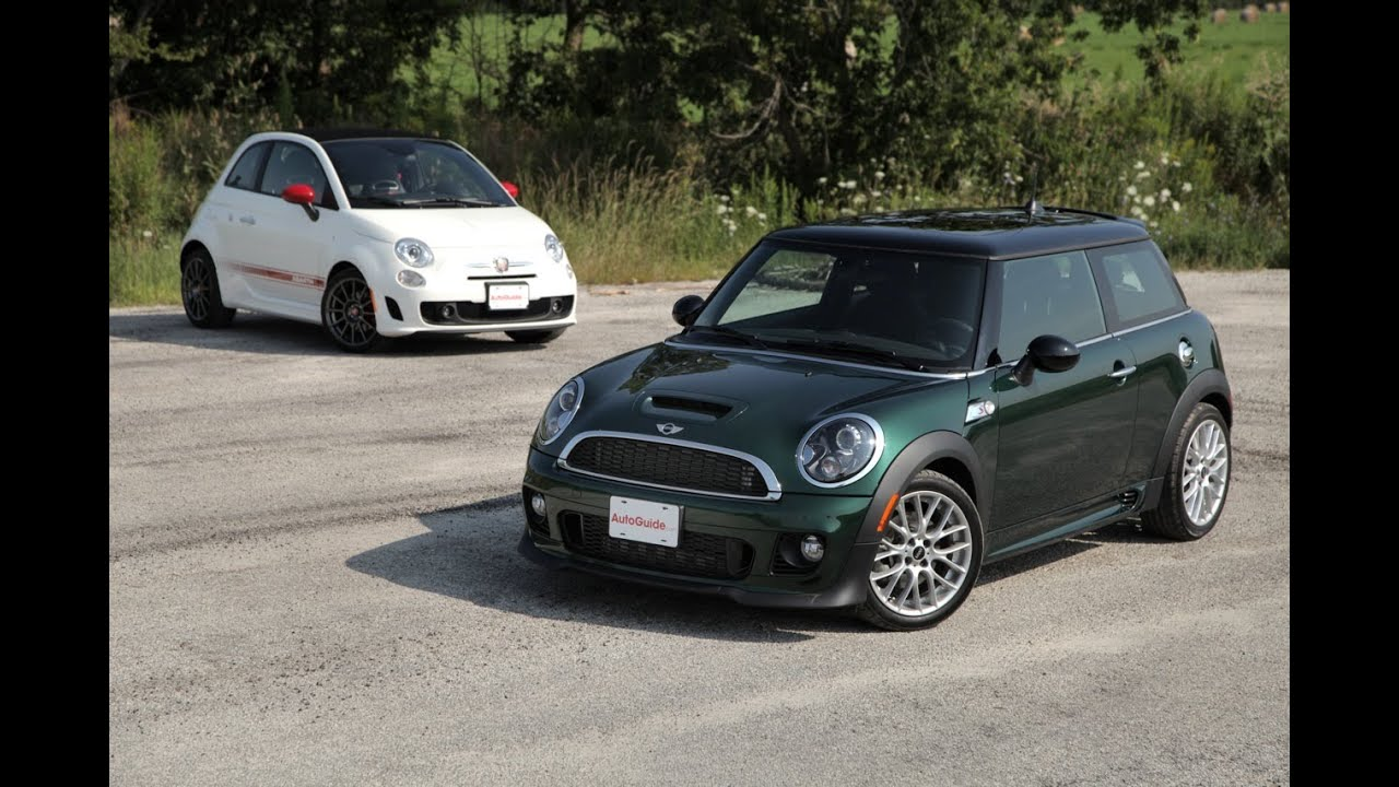 2013 mini cooper s vs 2013 fiat 500c abarth doovi. Black Bedroom Furniture Sets. Home Design Ideas