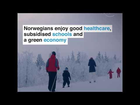Norway! Smallest gap between rich and poor.