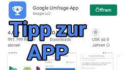 Tipp zur Google Umfrage App #2/2 - Deutsch