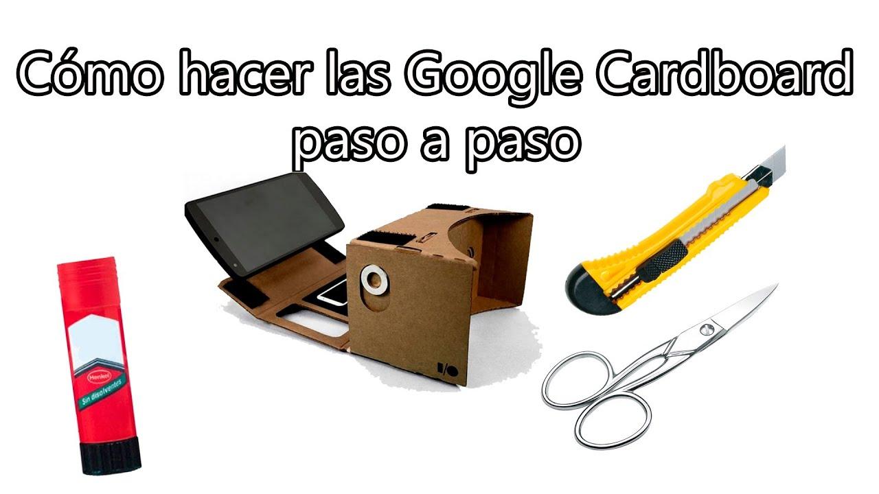 Google Cardboard , Cómo hacer las gafas de realidad virtual low cost