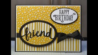No.305 - Lovely Word Friend 3in1 Die Cut - JanB UK Stampin' Up! Demonstrator Independent
