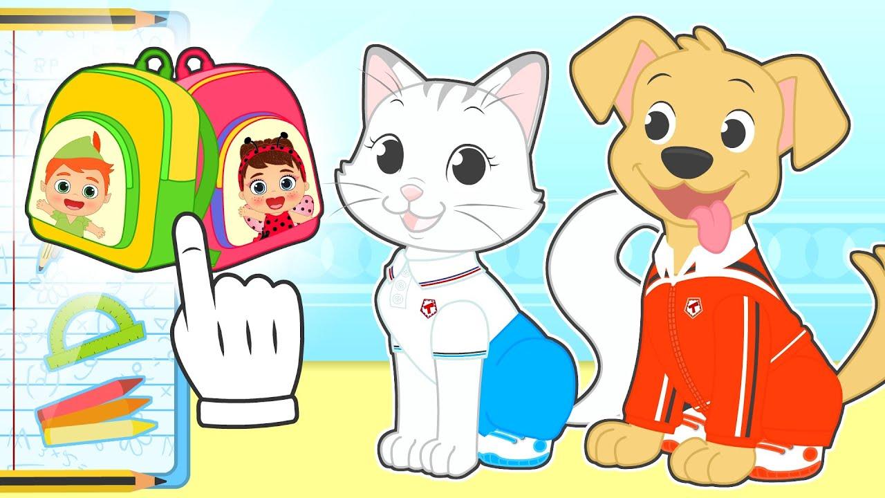 BABY PETS 📚🎨 Max y Kira se visten para la Vuelta al Cole 👩🏫📐 Primer día de escuela
