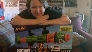 Fortnite nerf rocket launcher review and GIVEAWAY!