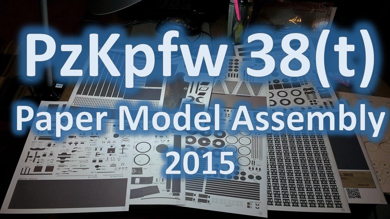 Papercraft Bonus Video - PzKpfw 38 (t) Paper Model Time-Lapse