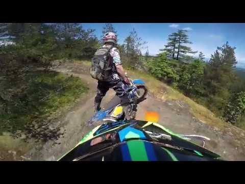 Hard enduro trail riding on Vancouver island