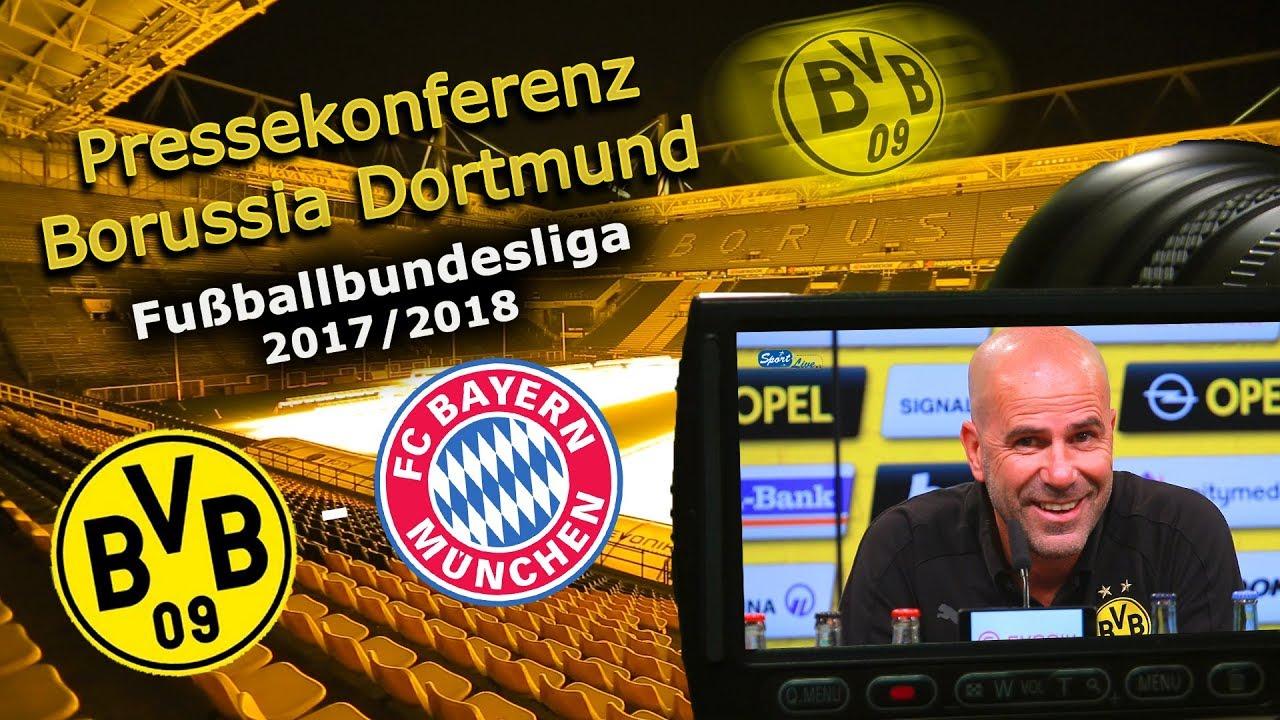 Borussia Dortmund - FC Bayern München: Pk mit Peter Bosz