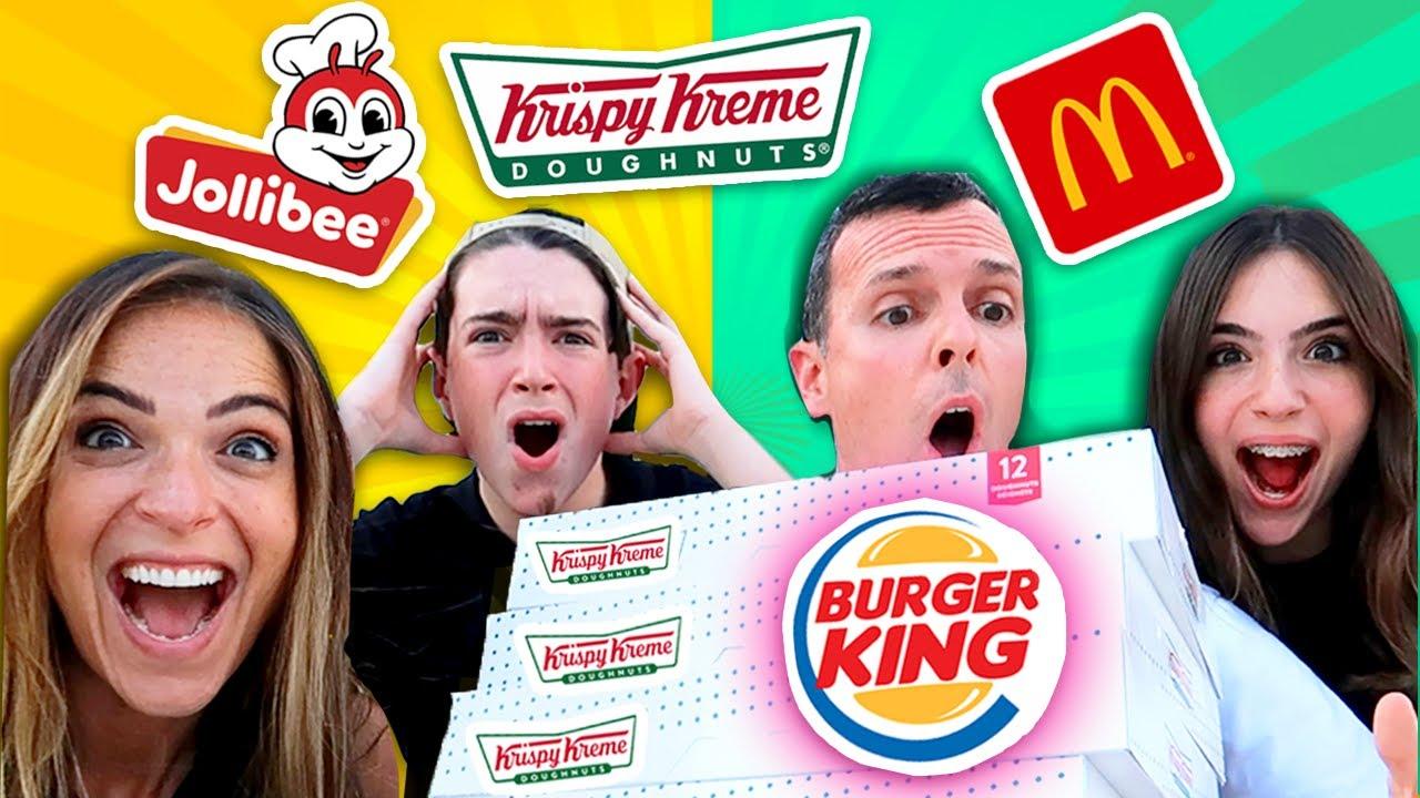We Let Strangers Decide What We Eat! - WE GOT 72 DONUTS!!