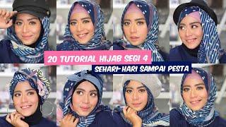 Download Video Tutorial Hijab Segi Empat Voal Motif | Style sehari-hari sampai pesta! MP3 3GP MP4
