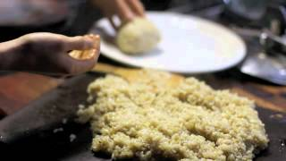 The Making Of A Rice Ball