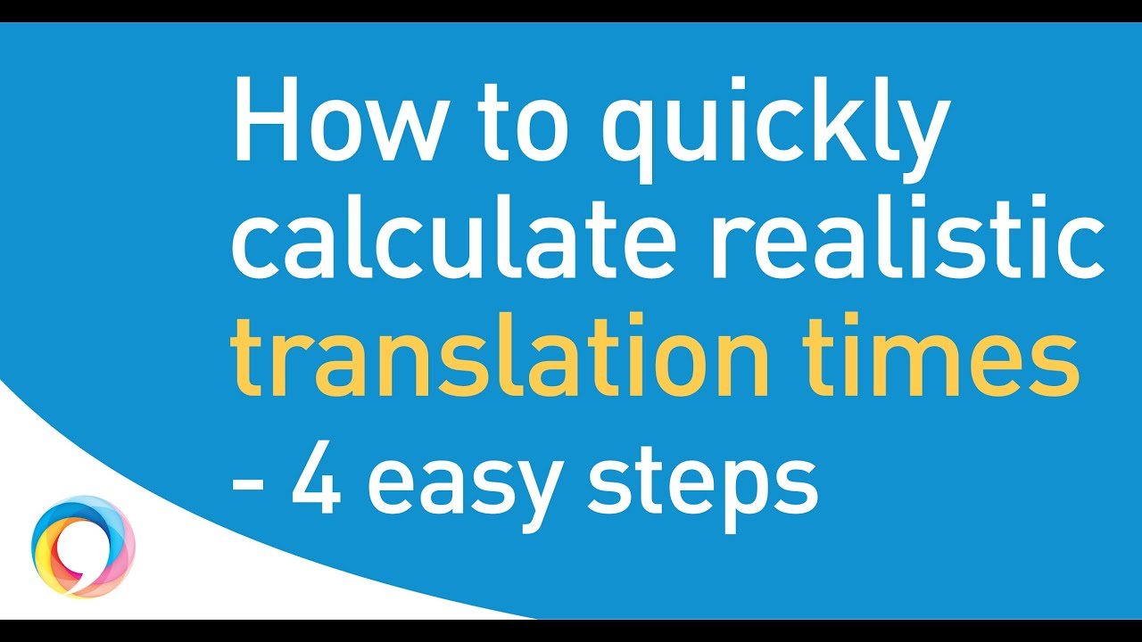 Expected translation times by professional translators