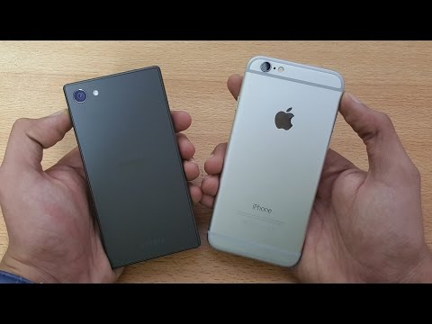 Sony Xperia Z5 Compact vs iPhone 6S  - Speed & Camera Test (4K)
