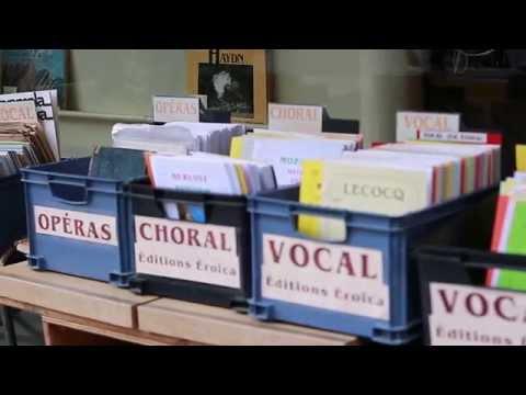 Magasin de musique à Paris sur la rue de Rome
