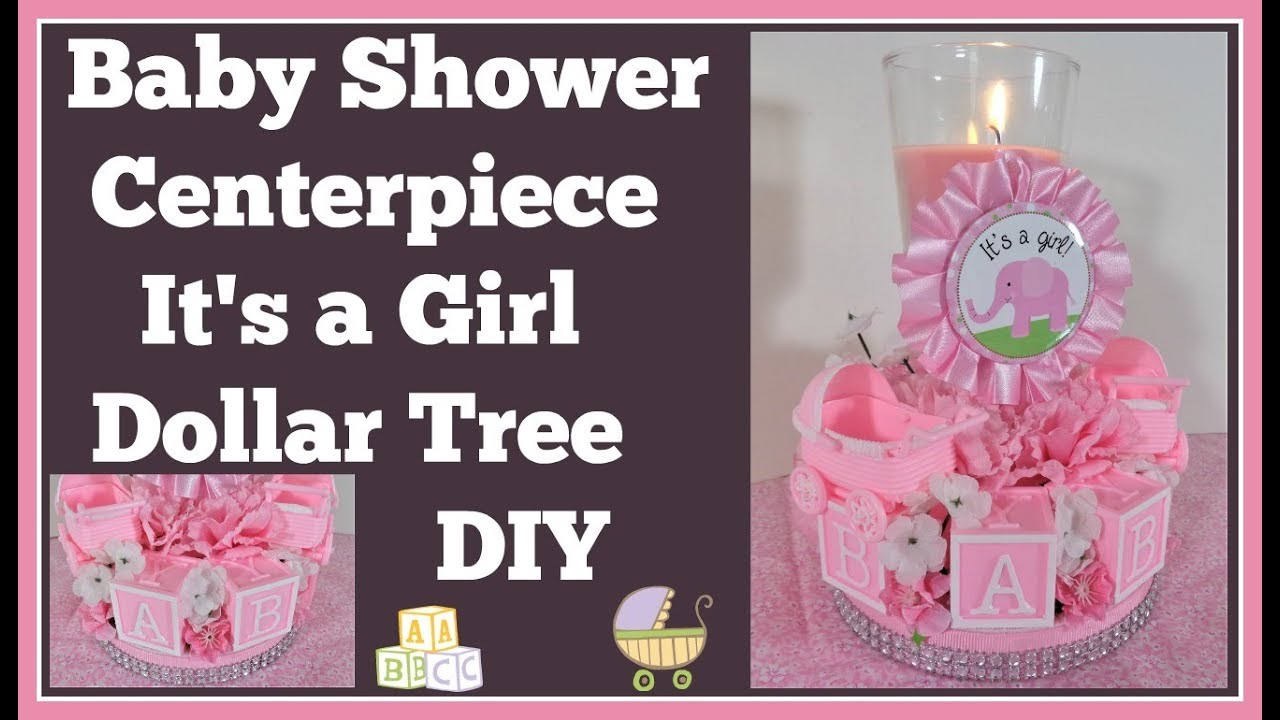 Baby Shower Centerpiece Dollar Tree Diy Girls