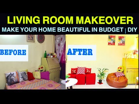 Small Indian Livinig Room Decorating Ideas | DIY | Cheap makeover PART 1