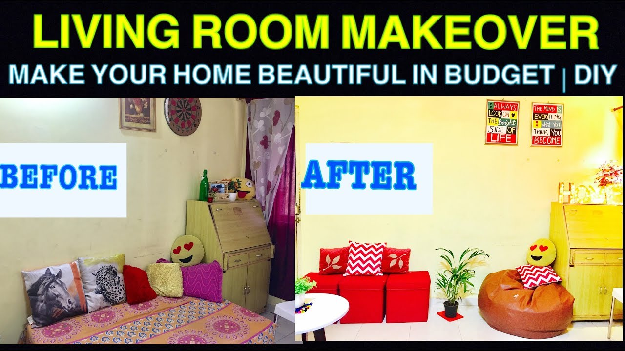 Small Indian Livinig Room Decorating Ideas Diy Cheap Makeover Part 1