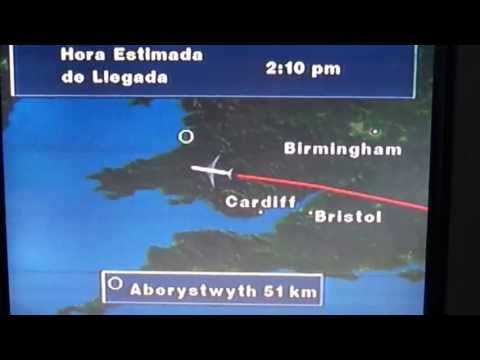 London LHR to Miami flight: takeoff, Nova Scotia, N. Miami B