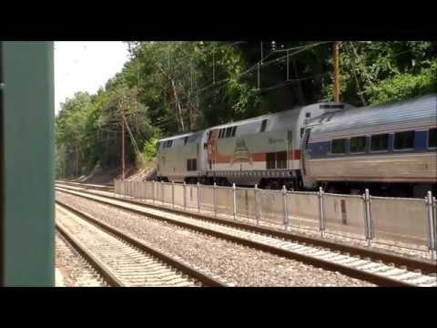 1100th Video-The Pennsylvanian train 42 and Amtrak Veterans Unit 42