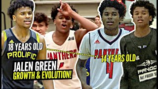 Jalen Green's AMAZING Evolution Through The Years! From PAPER THIN 14 Y/O To Potential #1 Pick