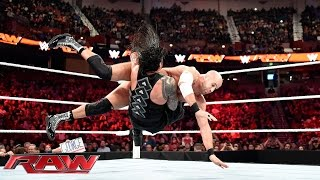 Reigns vs. Cesaro - WWE World Heavyweight Championship Tournament Quarterfinal: Raw, Nov., 16, 2015