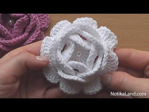 rochet Flower Motif. Crochet Shawl. Tutorial. Part 2 | Doovi