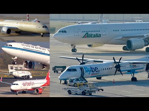 Wonderful planespotting at Düsseldorf Airport | A350, B789, A340, A330, A380,… | Compilation